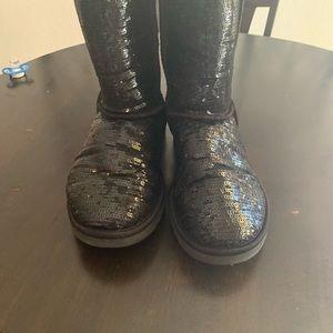 UGG Shoes - Black glitter UGGS